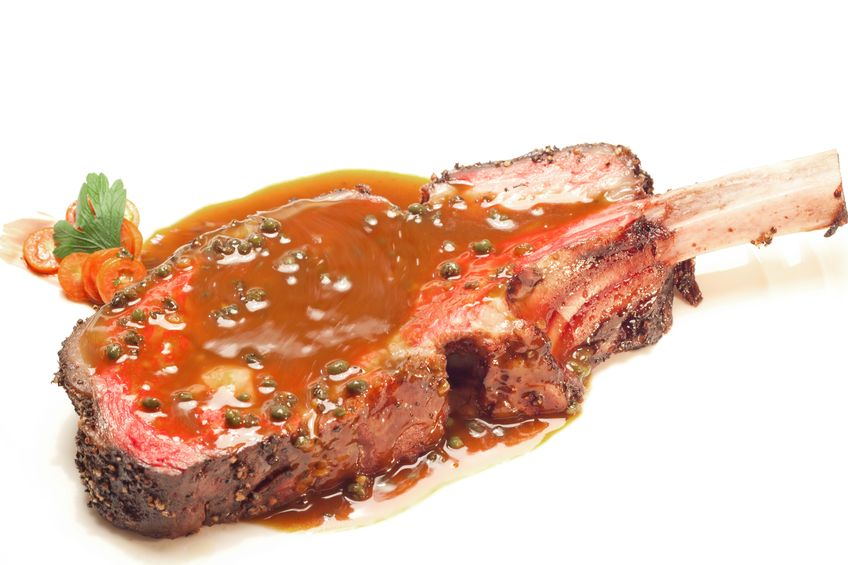 , slow-roasted rib roast cooked to medium and served with beef au jus ...
